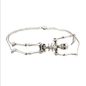 SAINT LAURENT Metallic 'punk' Skeleton Bracelet